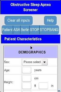Sleep Apnea Screener screenshot 0