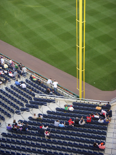 Outfield seats from the gallery