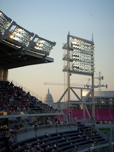 Capitol through the stadium