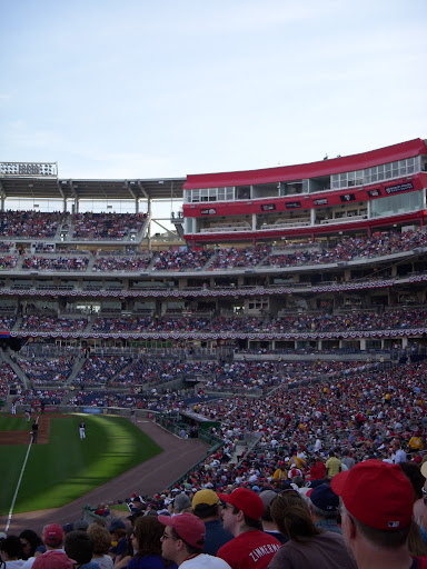 The crowds came out to see the Nationals take on the Red Sox