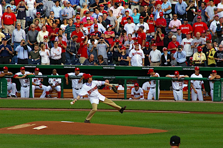 Ken Burns ceremonial pitch