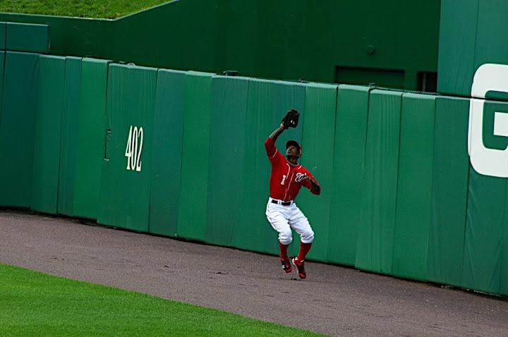 Morgan makes a catch