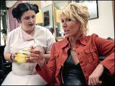 Ruth Jones as Linda with Julia Davis as Jill (Nighty Night)