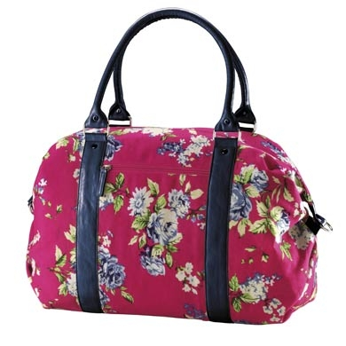 Hot pink floral weekend bag Matalan £6