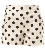 Polka Dots Cream Spotty Bow Shorts by Miss Selfridge