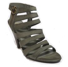 Grey Leather Multi-Strap Peeptoe Sandals by Ash at Urban Outfitters