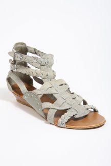 Grey Suede Multi-Strap Gladiator Sandals by Urban Outfitters