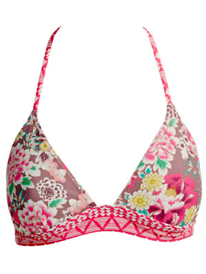 Exotic Flower Halter Bikini Top by Accessorize