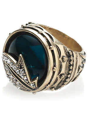 Retro Spellbound Wizard Statement Ring by Accessorize