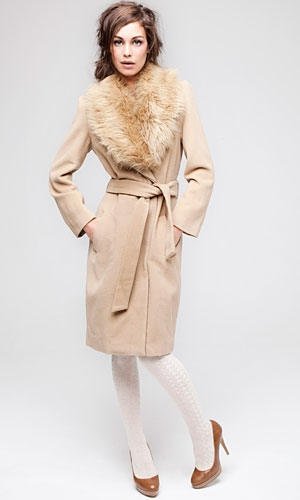 Cashmere Fur Collar Coat by Primark