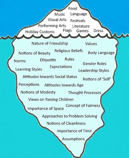 Image result for cultural iceberg