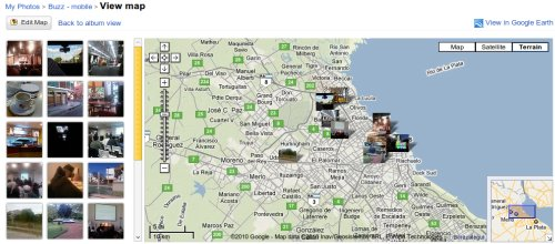 Tus fotos en el mapa, versión Picasa