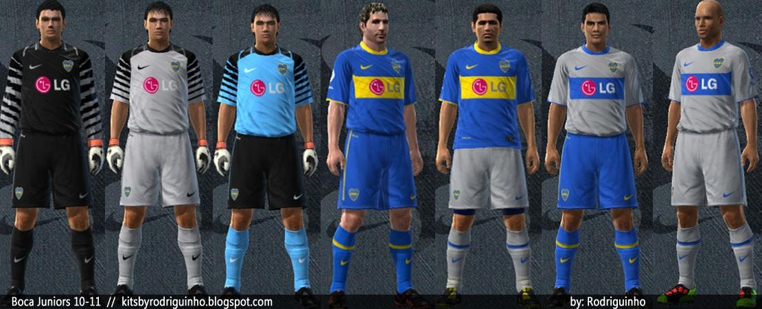 Uniforme do Boca Juniors 2010 para PES 2010