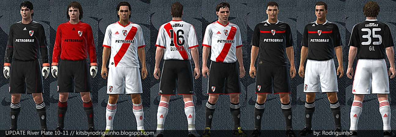 Uniforme do River Plate 2010 para PES 2010