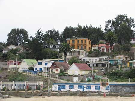 Vista desde la playa de la casa de Parra.
