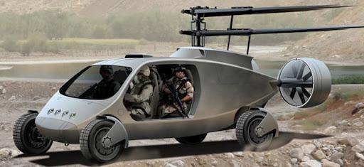 Keren! Mobil SUV 4x4 bisa berubah jadi  Helicopter