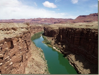 Colorado River upstream Marble Canyon from Navajo Bridge Hwy 89A Arizona