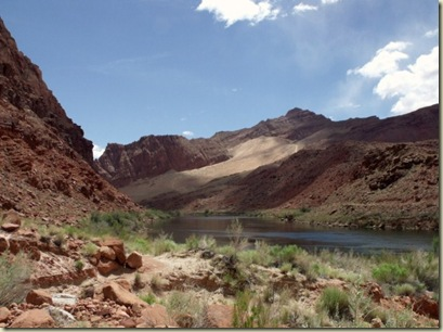 Colorado River upstream from historic Lee's Ferry crossing Arizona
