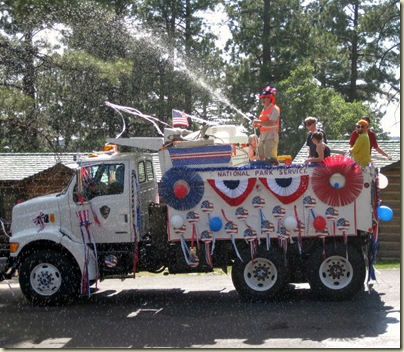 National Park Service truck in 4th of July Parade North Rim Grand Canyon National Park Arizona