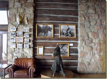 Brighty statue in sunroom of Grand Lodge North Rim Grand Canyon National Park Arizona