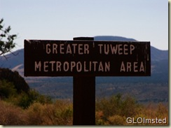 Sign for Toroweap Ranger Station Grand Canyon National Arizona