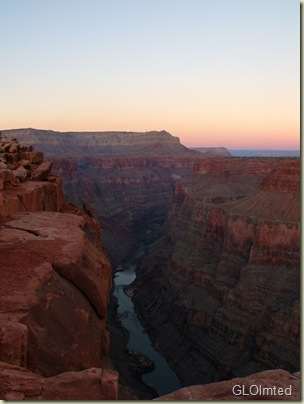 Sunset upriver Tuweep Grand Canyon National Park Arizona