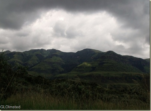 Drakensburg from Monks Cowl camp KwaZulu-Natal South Africa