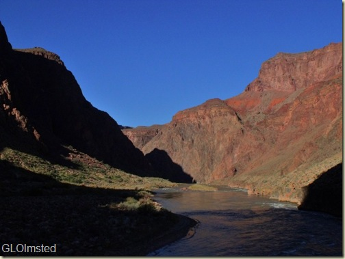 Colorado River downstream from Silver Bridge Grand Canyon National Park Arizona