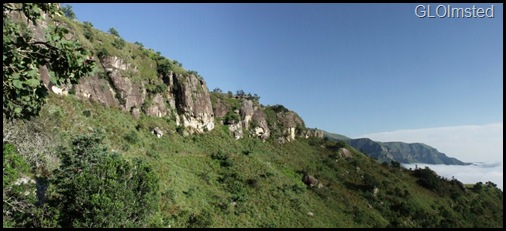 Sandstone cliffs Drakensburg hike KwaZulu-Natal South Africa