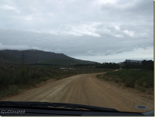R320 South gravel Western Cape South Africa