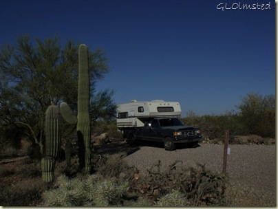 Truckcamper Gilbert Ray campground Tucson Mountain Park Arizona