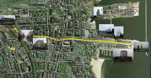 Droga do Akwarium Gdyńskiego z dworca PKP i wybrane atrakcje na trasie