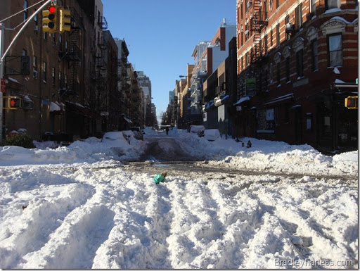 A partially cleared road.
