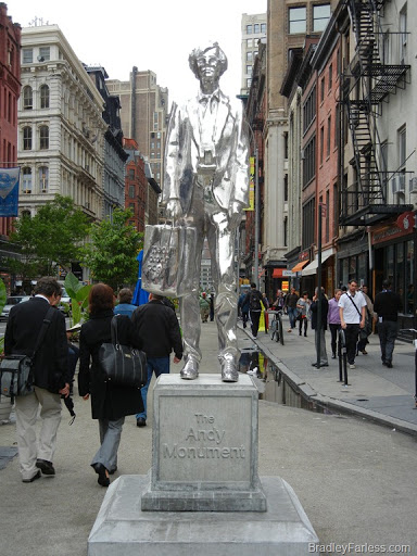 The Andy Monument at Union Square, Manhattan, New York City.