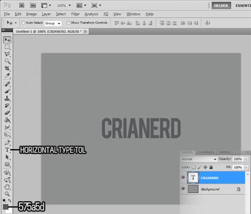 Efeito letterpress no photoshop - passo 2