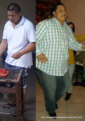 Lalo (derecha dic 2009 , izquierda agosto 2010)