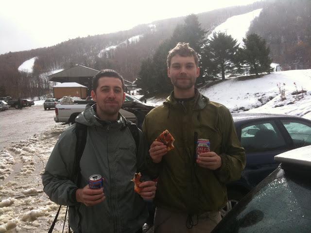 Skiing, Pizza, Beer.
