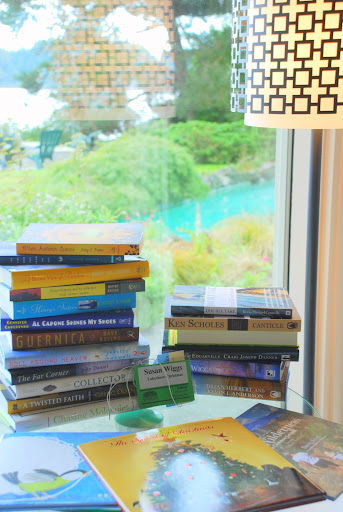 a sack of not-yet-published books