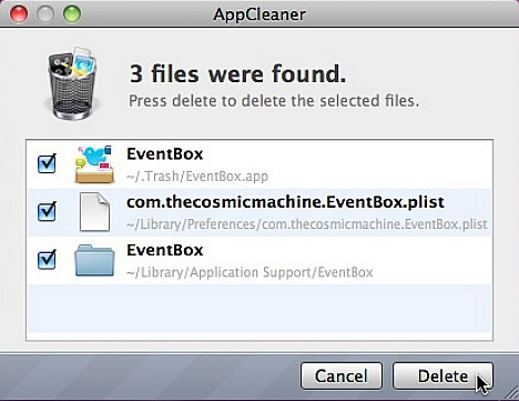 AppCleaner - Files Were Found