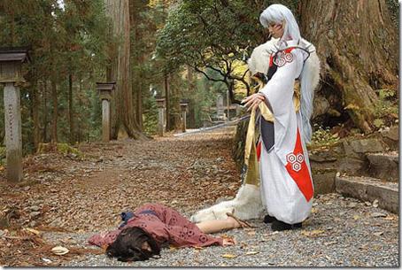 inuyasha cosplay - rin and sesshoumaru 02