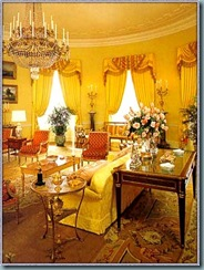 Sala oval amarela da casa branca.