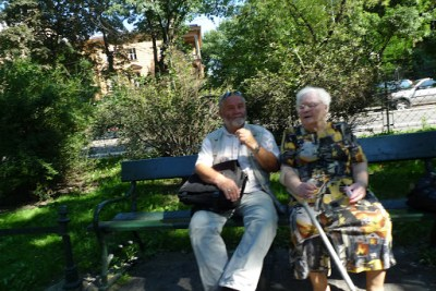 Cute old couple in Krakow