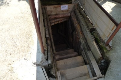Entrance to the tunnel that was used during the Siege to smuggle in supplies and weapons.