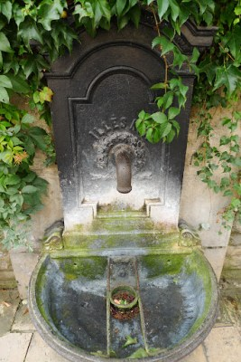 Old public drinking fountain