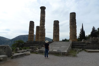 Apollos temple. The Greeks thought this was the centre of the world