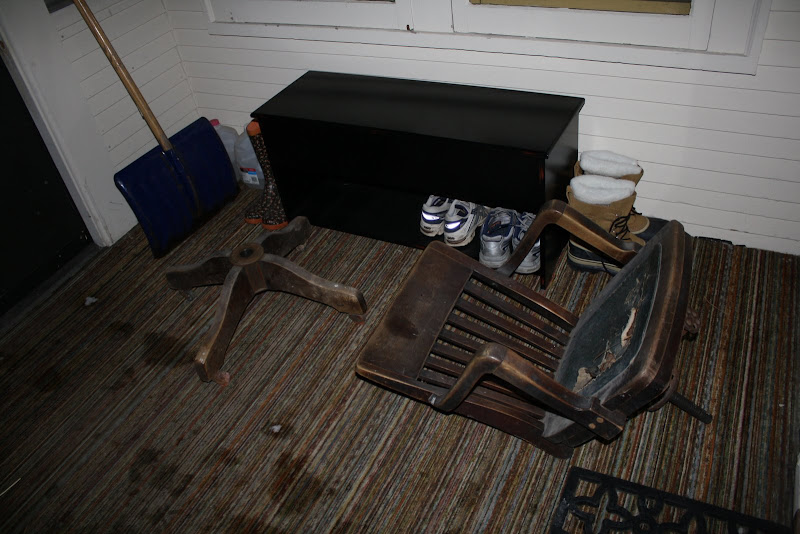 scraping wallpaper off the walls of what was going to be our office and i was scouring craigslist for the perfect bankers chair u0026 desk
