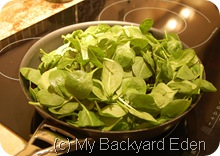 Add lots of spinach