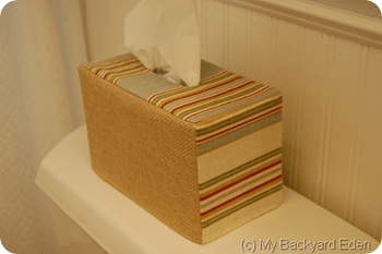 Fabric Tissue Box Cover