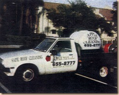 first roof cleaning truck