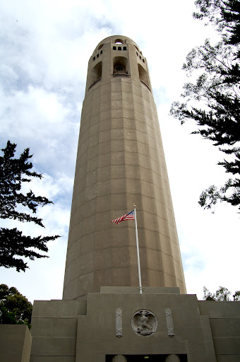 Heres Coit Tower on a foggy day.